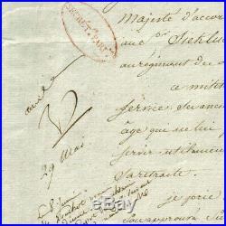 NAPOLEON 1er LETTRE BERTHIER AVEC APOSTILLE AUTOGRAPHE MAI 1808 BAYONNE