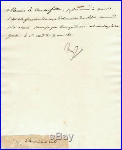 NAPOLEON 1er LETTRE SIGNÉE (1811) / RAPPEL A L'ORDRE CLARKE FELTRE BONAPARTE
