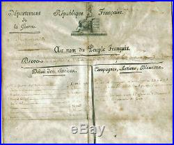 NAPOLEON BONAPARTE BREVET DE CAPITAINE SIGNE -1er EMPIRE 1803