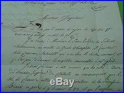 NAPOLEON I // LETTRE de 1813 INTENDANCE DE LA MAISON DE L'EMPEREUR 104/TURIN