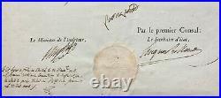NAPOLÉON Ier (secrétaire) Beau document signé Consulat 1803