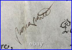 Napoléon Bonaparte Document / lettre signée Brevet Capitaine 1803