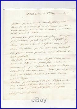 Napoléon / Campagne D'espagne / Lettre Autographe De Kellermann (1809) / Burgos