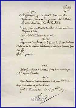 Napoléon / Document Signé (1807) / Fontainebleau / Frontières De L'italie /