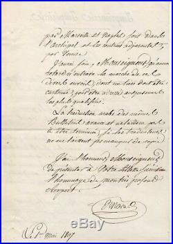 Napoléon / Empire Ottoman / Archives De Cambacérès / Grande Armée / Autographe