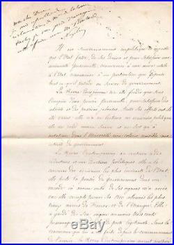 Napoléon III / Document Signé Avec Apostille Autographe (1860) / Second Empire