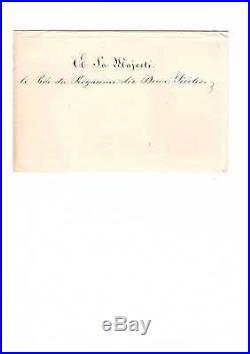 Napoléon III / Lettre Signée (1860) / Mort De Jerome Bonaparte