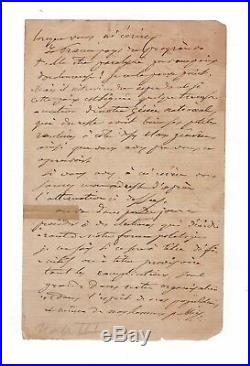 Napoleon III / Manuscrit Autographe (1871) / Commune De Paris / Prussiens