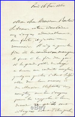 Napoleon III importante lettre autographe signée laicité 1860