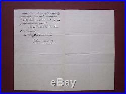 Napoléon IV Lettre autographe signé Louis-Napoléon 16 Avril 1872