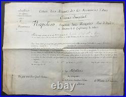 Napoleon I Charles Maurice de TALLEYRAND Document / lettre signée 1808