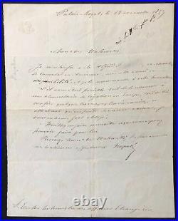 Napoléon-Jérôme BONAPARTE (1822-1891) Prince Napoléon lettre Autographe 1859