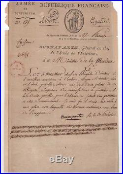 Napoléon / Lettre Signée (1796) / Juste Avant La Campagne D'italie / Bonaparte
