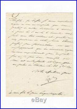 Napoléon / Lettre Signée À Eugène De Beauharnais (1809) / Divorce Avec Joséphine