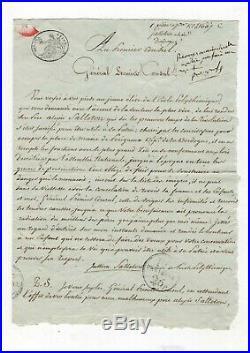 Napoléon / Lettre Signée Bonaparte / Consulat / Avec Trois Lignes Autographes