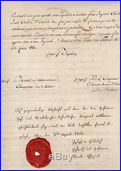 Napoléon / Marie-louise (mariage) / Document Signé (1810) / Josef Von Hudelist