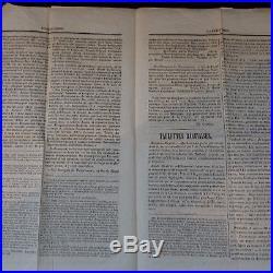 Napoléon N°19 Sur Journal Entier L'aigle Corse 5 Mai 1869 Genes Italie