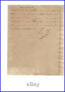 Napoléon lettre signée 1811