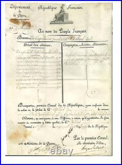 O1-bonaparte-napoléon-hugues Maret-berthier-albert Adam-brevet Capitaine-1803