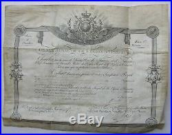 Ordre Royal Légion dHonneur Roi Charles X, signature Chancelier Macdonald. 1826