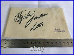 Original Michael Jackson autograph signed MJ HISTORY Tour France Nice 1997 97
