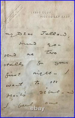Oscar WILDE Lettre autographe signée