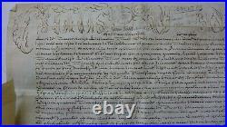 PARCHEMIN 1735 PAPE CLEMENT XII nomination Besançon PARCHEMIN signé LOUIS