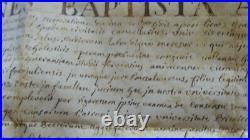 PARCHEMIN DIPLOME DE BACHELIER AIX EN PROVENCE 1743 Jean-Baptiste de Brancas