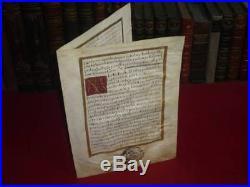 PARCHEMIN ENLUMINE 17e PREUVE NOBLESSE GUTIERREZ DE LA YSECA 1675 CANTABRIA Esp