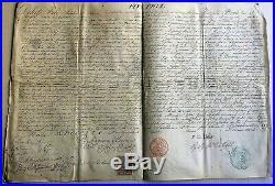 PARCHEMIN PAPE PIE IX BULLE SUR VELIN 1859 -Sceau du pécheur timbres