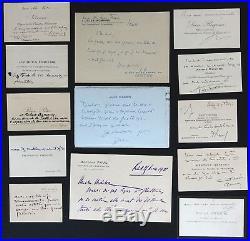 PERSONNALITES XIX°-XX° lot 45 cartes de visites autographes