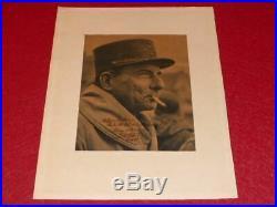 PHOTO DEDICACEE SIGNEE 1946 par LE MARECHAL JEAN DE LATTRE DE TASSIGNY WW2 Rare