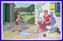 POUCET et son AMI, 8 affiches scolaires, Charlot-Géron, méthode de lecture, ECOLE