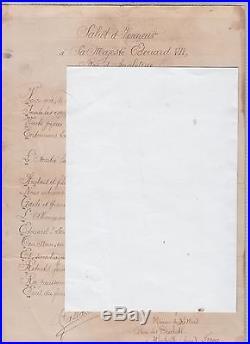 POËME INEDIT en ACROSTICHE de ALPHONSE GALLAIS auteur 1869-1954