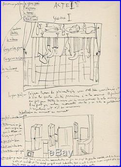 Pablo Picasso Le Désir Attrapé Rare Eo 1944 Envoi Autographe Et Dessin Signé