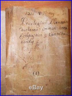 Parchemin 1315 PRIVILEGIUM ALEXANDER. Sur le Pape ALEXANDRE IV sous LOUIS X