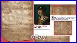 Parchemin 1502 Epoque Roi LOUIS XII de France GUIBAL Notaire Royal signataire