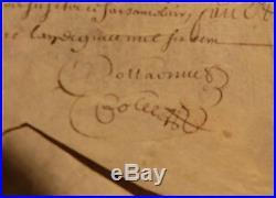 Parchemin 17e Epoque Louis XIV Montpellier 1679 Condamnation la Cour des Comptes