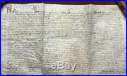 Parchemin Aveu Foi et Hommage Seine et Oise Novembre 1406 Vieux papiers