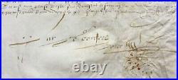Parchemin Charles IX Roi de France Charte du 21 septembre 1563 avec sceaux