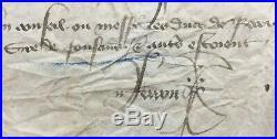 Parchemin Charles VI Roi de France Mandement royal 1404 Parchment