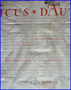 Parchemin Diplome de Toulouse manuscrit sur vélin en latin daté 1709