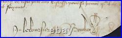 Parchemin Guerre de cent ans Arbalétriers Duché Normandie 1460 Parchment