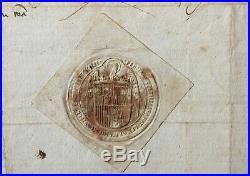 Parchemin Isabelle I de Castille & Ferdinand d'Aragon -Séville- 1479 Parchment