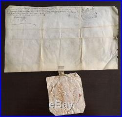 Parchemin Velin Diplôme Universitaire 18è Sceau Université scellé/s papier 1707