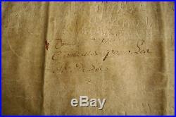 Parchemin acte de droit privé Bretagne Penthièvre Plourhan 1570