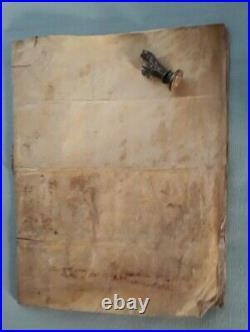 Parchemin en peau Acte du Vicomté de Bayeux 9 /02/1618 (jn60)