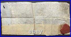 Parchemin & sceau Empereur CHARLES QUINT Flandre 1532 Justice impériale