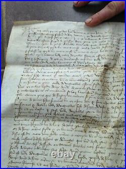 Parchemins Royale Louis XI 1475 authentique très bonne conservation