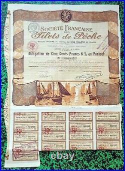 Paris XIV èm 35 Bld St Jacques- Rare & Magnifique Décor Secteur de la Pêche 1920